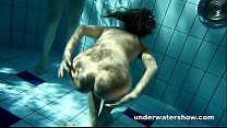 Zuzanna and Lucie playing underwater Image