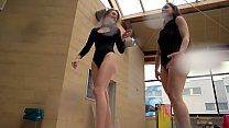 Diana & Simonna two oustanding teens in the pool