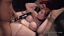 Busty slave vibed and anal fucked