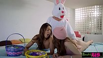 Easter Egg Hunt Gets Bunny Fucked By Hot BFF And StepSis! S4:E10 صورة