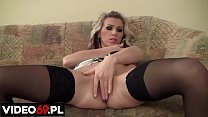 Polish porn - Blonde is masturbating her pussy ...