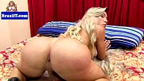 Brazilian tranny with bigtits jerking cock