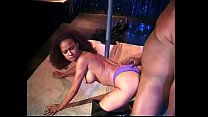Sexy pole dancer girl gets fucked on stage
