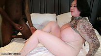 harmony reigns attempts double vaginal penetration for the very 1st time with 2 big black cocks صورة