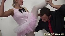 flexible ballerina gets fisted