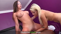 Shake The Snake - 2 Hot BFFs Convince Masseur into Threesome Fuck