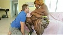 Large Ebony Woman Wants His White Dick