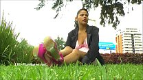 Amateur latina Beatriz public nudity and squirting masturbation of chubby flash Preview