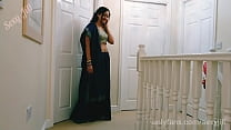 Young indian girl in saree is blackmailed to give her grandfather a blowjob