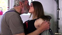 Such an innocent petite young pussy for an old horny hairy grandpa porn thumbnail