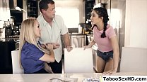 Download video bokep Foster parents and the teen stepdaughter make love 3gp terbaru