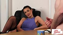 17303 CFNM office beauty humiliating sub employee preview
