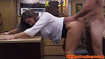 Bigass pawnshop babe doggystyled out back porn image