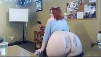 Hottest Redhead BBW Dildo Fucks Herself Wearing...