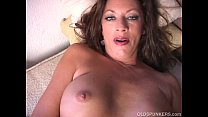 Naughty old spunker plays with her juicy pussy ...