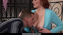 StepmomWithBoys - Mature Ginger Gets Boned By H...