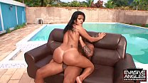EVASIVE ANGLES Camily has a huge Latina ass that always catches the attention of horny men like this black guy with a fancy house and pool
