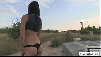 Aspiring teen model gets tricked by an agent and she gets fucked outdoor Image