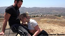 Hiking in LA gets Wild when a Hot Blonde Slut gets Naked and Fucks Outdoors! She Swallows every drop of Hot Cum!! Featuring Bailey Brooke