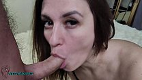 Beautiful Girl Passionate Sucking Hard Cock Lover - Cum in Mouth صورة