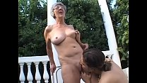Horny granny Margo gives blowjob to her husband...