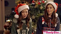 Stepbro's Christmas Threesome And Sister Creampie - My Family Pies S5:E6 thumbnail