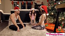 Stepbro's Christmas Threesome And Sister Creamp...
