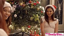 Stepbro&039;s Christmas Threesome And Sister Creampie - My Family Pies S5:E6 [여동생과 오빠 Sister and brother]
