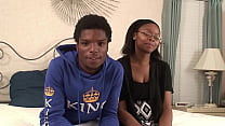 Amateur ebony chick gets fucked hard by her boy...