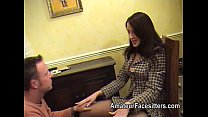 Business woman in stockings facesitting Preview
