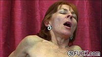 Horny granny in black stockings is ready for intense sex with younger stud