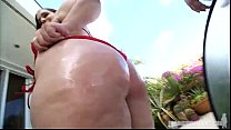 Plumper Emma Bailey Is Oiled and Fucked by Pool thumbnail