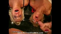 Two lovely blonde babes loves to get their faces jizzed together Vorschaubild