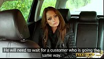 Pretty brunette babe Sophie pounded for a free taxi fare thumbnail