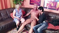 German mom and dad persuade cleaning lady to fuck
