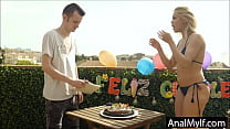son gets birthday anal surprise from Mom