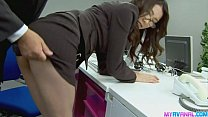 Sexy office chick bending over and fucked hardcore by her boss pornhub video