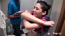 Image: Carlota (Penelope Cum) fucks the plumber and gets him so horny he cums in under 10 minutes!