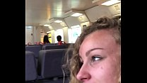 Angel Emily public blowjob in the train and cum...