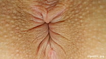 Pulsating Orgasm with anal contractions close up asshole