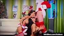 Cum Swapping 3Some As Nikki Benz Bangs Santa Claus!