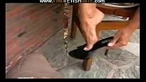Black high heels & toes fetish porn thumbnail