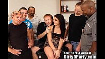 Sexy teen Julia is going to have a interracial gangbang party pornhub video