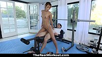 TheRealWorkout - Bubble Butt Cutie Fucked During Workout Vorschaubild