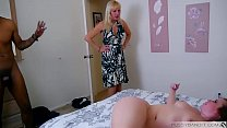 blonde creampied by a black cock