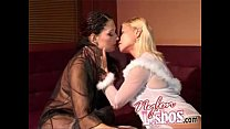 fetish foot and kissing stockings in Lesbians