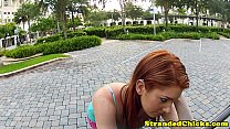 Beautifull stranded redhead with huge tits - 9Club.Top