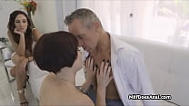 Wife calls over gf for husbands anal needs