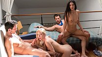 LOS CONSOLADORES - Intense foursome with hotties Alexa Tomas and Sicilia's Thumb