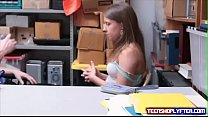 Sweet teen Brooke Bliss caught and ravished by guard at mall